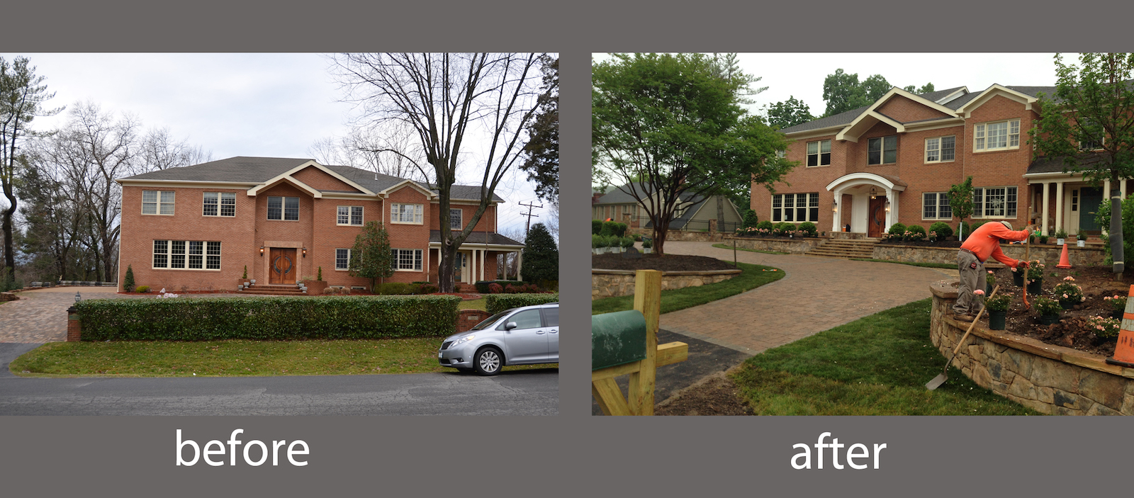 Pretentious Before After Front Yard Landscape Design Cleaned Viriginia Three Welcoming Front Yard Landscape Designs Surrounds Landscape Front Yard Landscaping S No Grass Front Yard Landscaping S Ranch outdoor Front Yard Landscaping Photo