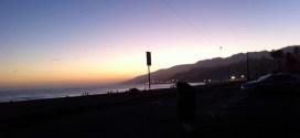 Sunset over California