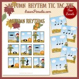 Autumn Rhythm Tic Tac Toe