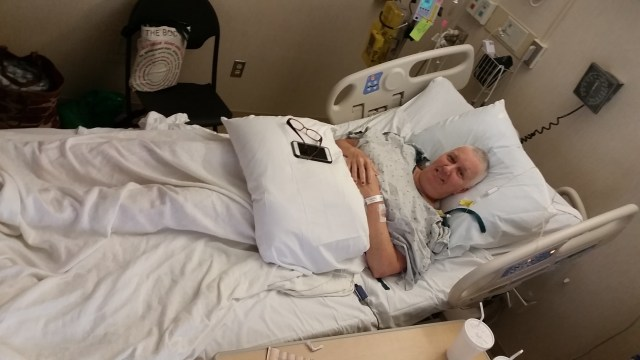 post-op-- no changes except the gown? (as if)