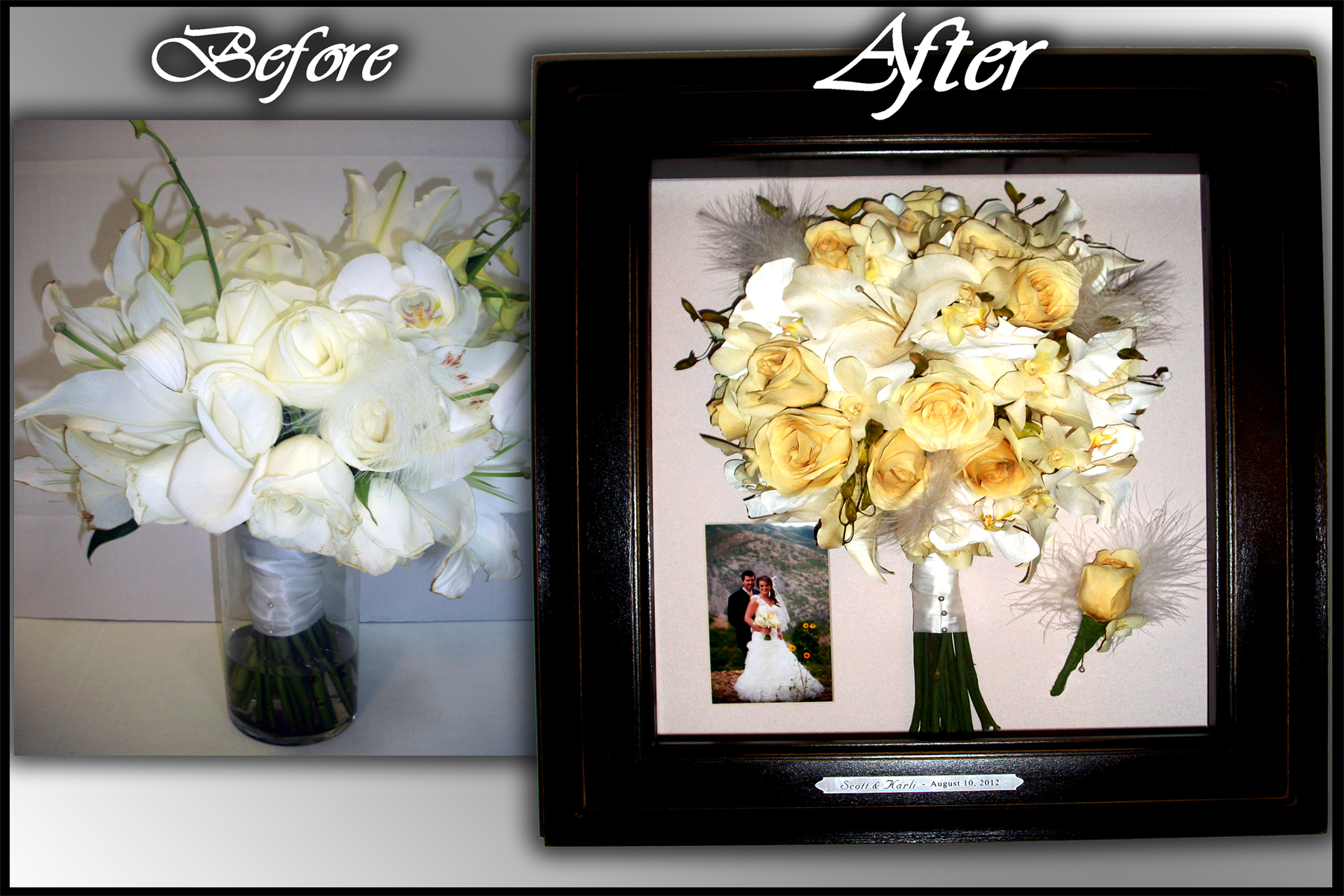 testimonial wedding dress preservation Before and After Pictures