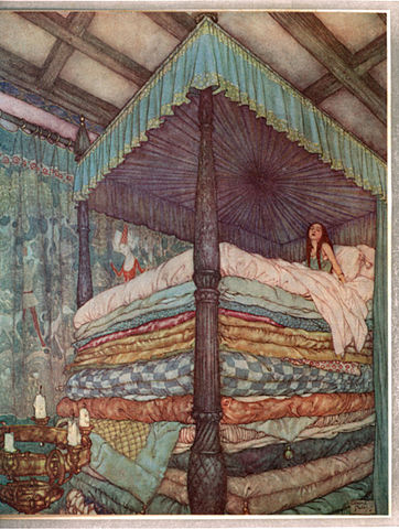 Edmund Dulac   Princess and pea Fairy Tale Friday: The Princess and the Pea