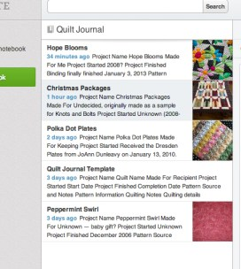 screengrab Documenting my quilts using Evernote