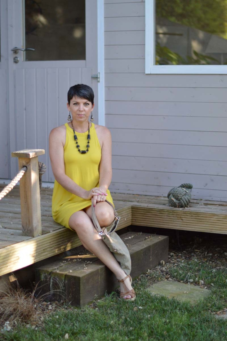Dressing for the heat: mustard yellow summer dress