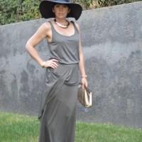 Apricot Khaki twist dress 7