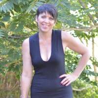 Suzy in black dress