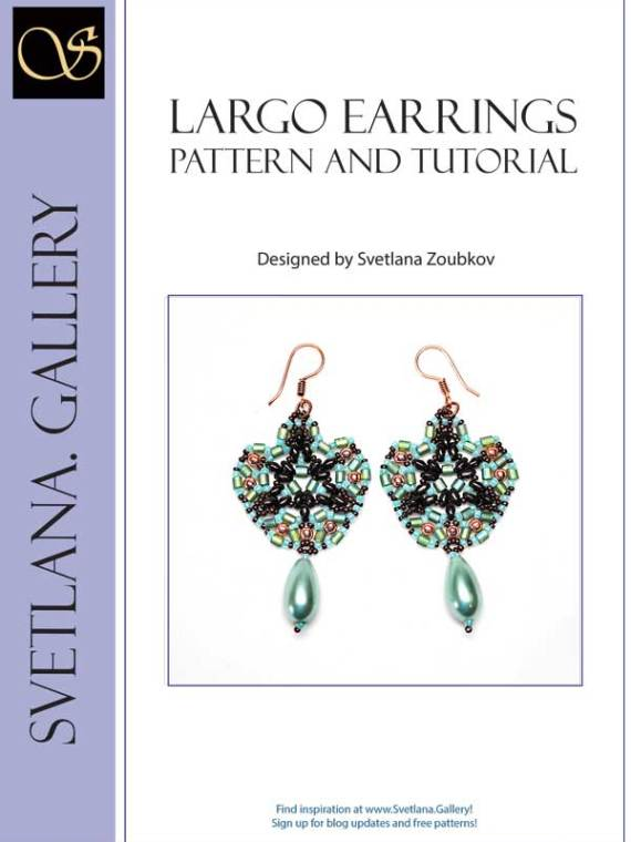 Largo Earrings Bead Pattern And Tutorial - Cover page