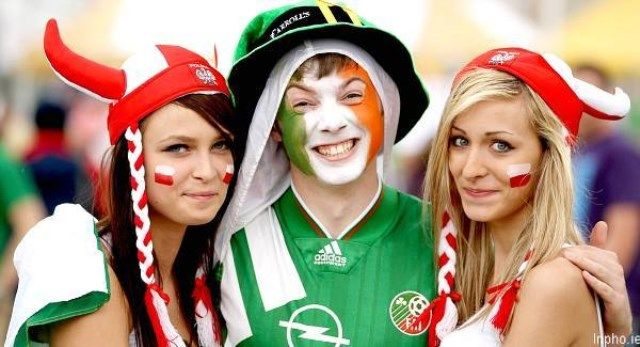 Poljska - Irska navijači
