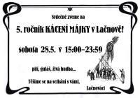 5. ročník KÁCENÍ MÁJKY v Lačnově
