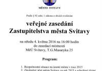 Přímý přenos: Zastupitelstvo města Svitavy – 4.5.2016