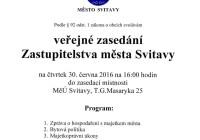 Přímý přenos: Zastupitelstvo města Svitavy – 30.6.2016 od 16:00