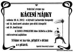 Tip na víkend: Kácení májky v Lačnově