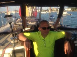 Mike in the Companionway