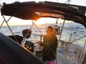 Gillian at the helm