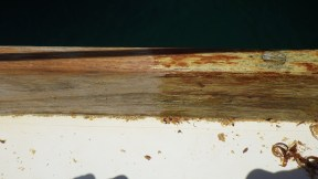 Before and after varnish