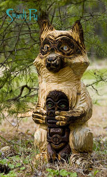 Coon Tiki carving by Crazy Al