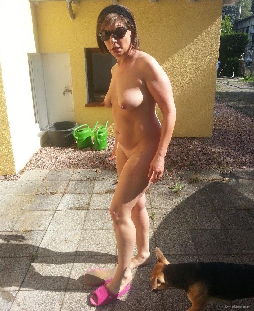 mom and friend sunbathing nude