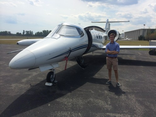 In Front Of A Learjet 35