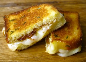 Today on the Boards: Brie Grilled Cheese