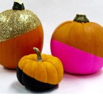 DIY: No-Carve Decorative Color Dipped Pumpkins