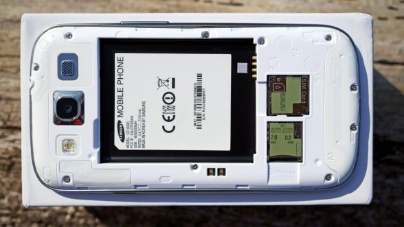 Galaxy S III battery compartment