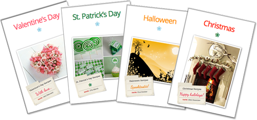 Occasions dividers - Valentine's, St. Patrick's day, Halloween & Christmas