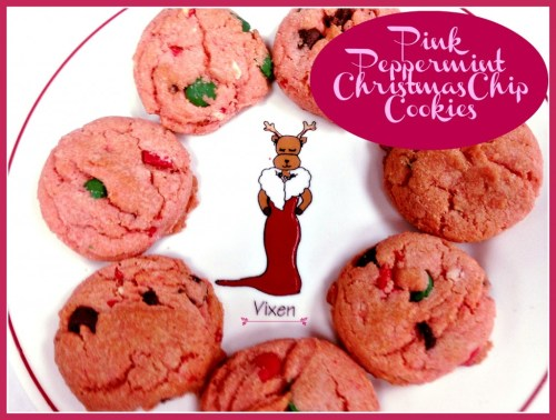 Pink Peppermint Christmas Chip Cookies by Tumbleweed Contessa