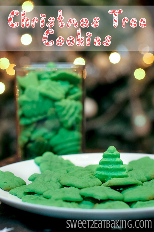 Christmas Tree Cookies | Vanilla Butter Cookie Recipe by Sweet2EatBaking.com