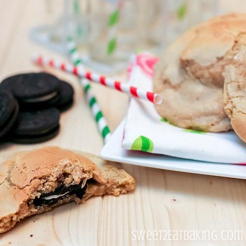 Oreo Stuffed Peanut Butter Chip Cookies