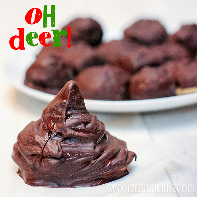 Reindeer Poop Peanut Butter Balls Recipe by Sweet2EatBaking.com