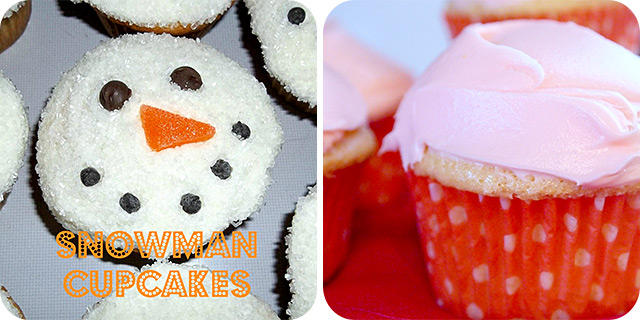 Snowman Cupcakes | Mimosa Cupcakes