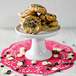 Strawberry, Roasted Hazelnut, Dark and White Chocolate Chip Cookies Recipe