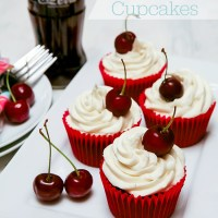 Cherry Coca-Cola (Coke) Cupcakes #cbias