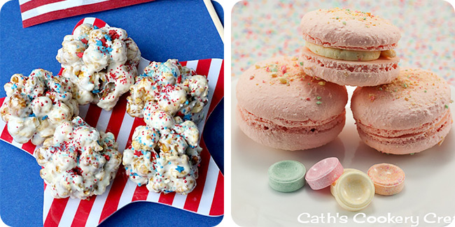 Cracker Jack Popcorn Balls | Fruit Tingle Macarons