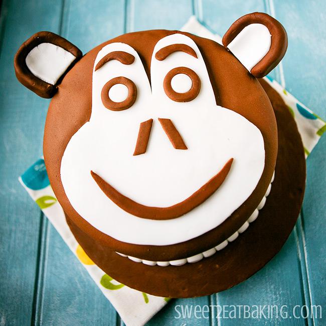 Monkey Chimp Face Chocolate Cake