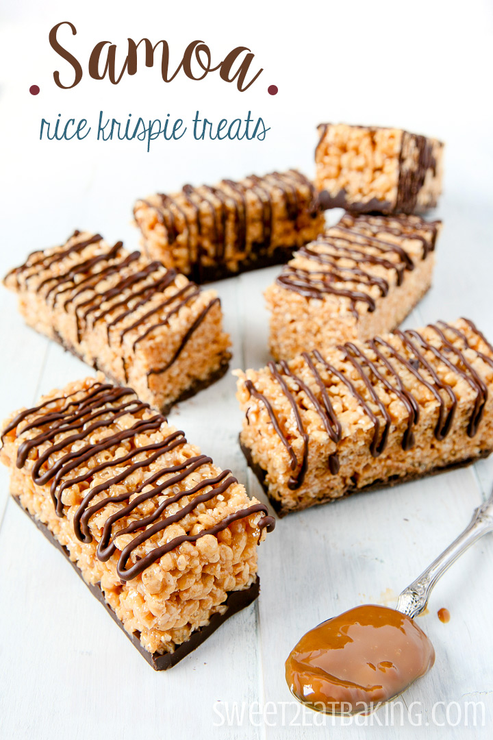 Samoa Rice Krispie Treats by Sweet2EatBaking.com