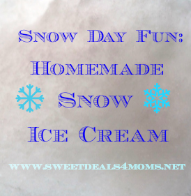 how to make snow ice cream