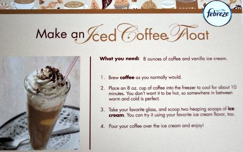 coffee float recipe card