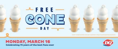 Medium Of Free Cone Day Dairy Queen 2017