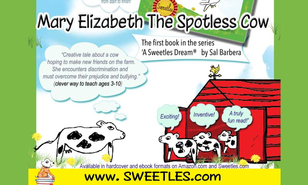 Mary Elizabeth The Spotless Cow- a great read for youngsters ages 3-10!