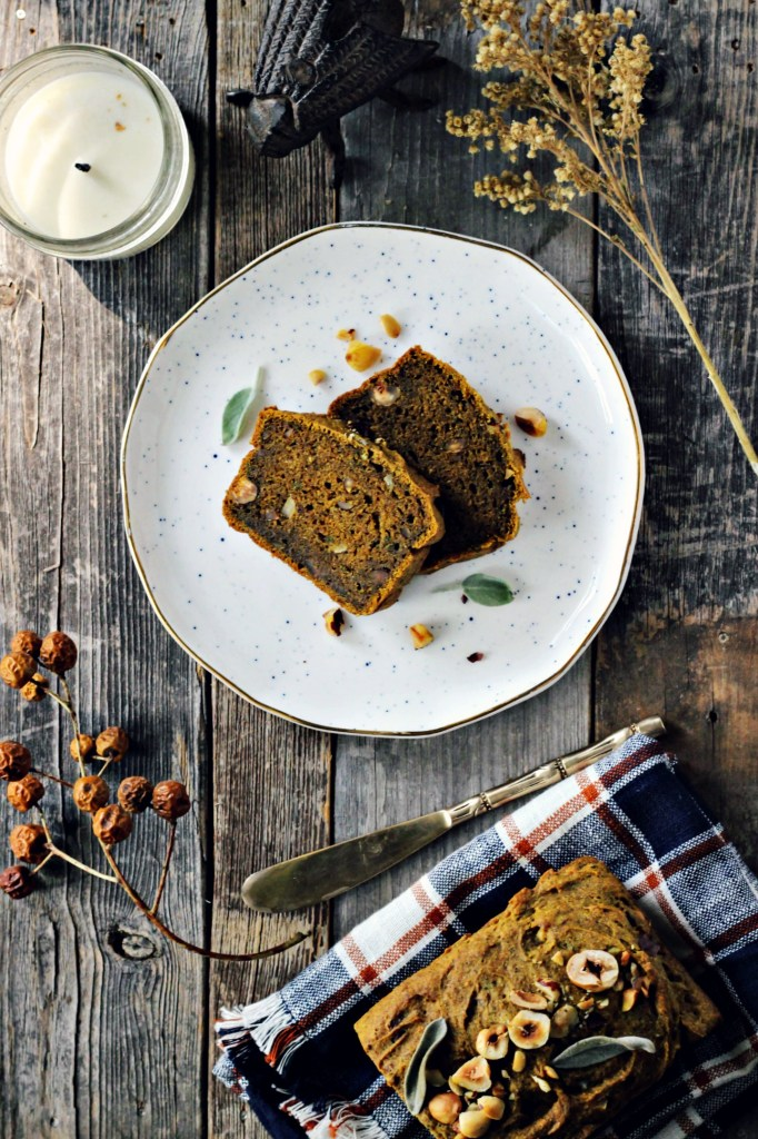 pumpkin bread with hazelnuts & sage | via sweet miscellany