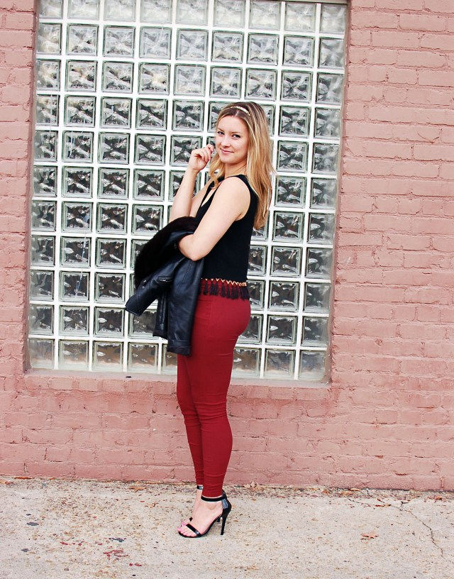 fringe crop top outfit