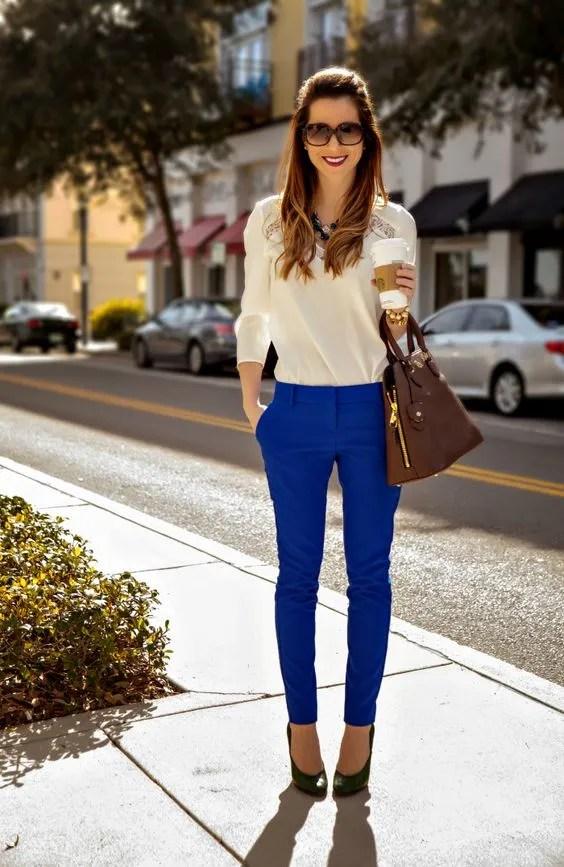 cobalt pants outfit 2