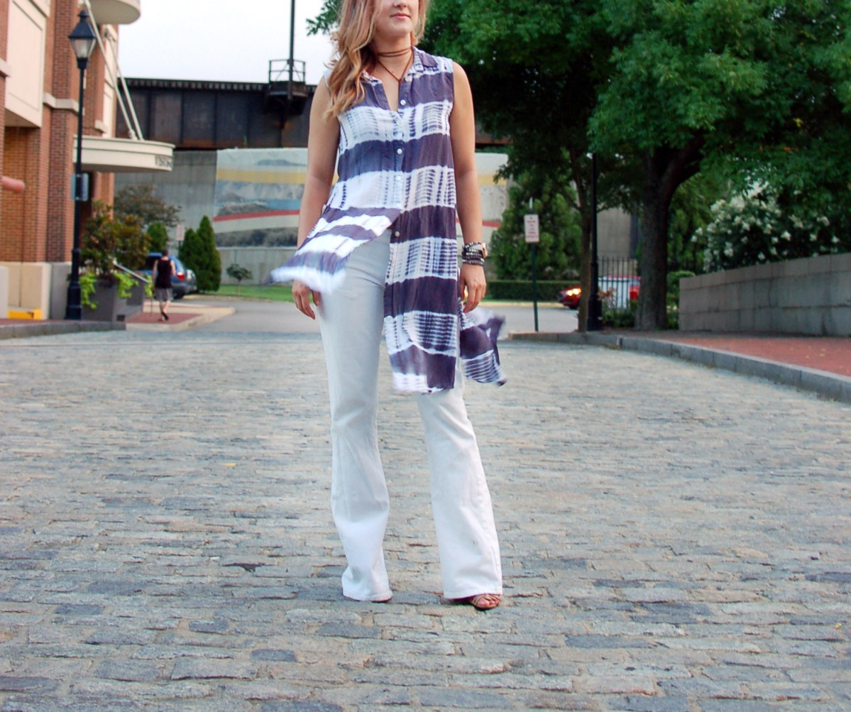 How to Style Your Old White Flare Jeans