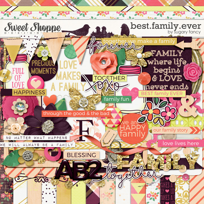 *FREE with your $10 Purchase* Best.Family.Ever Kit by Sugary Fancy