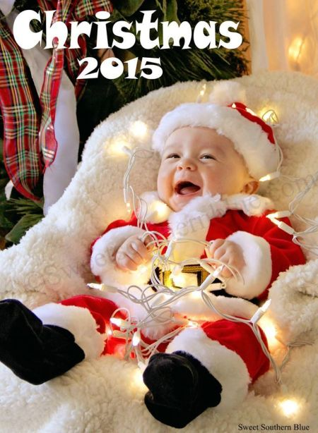 Photographing babies for Christmas