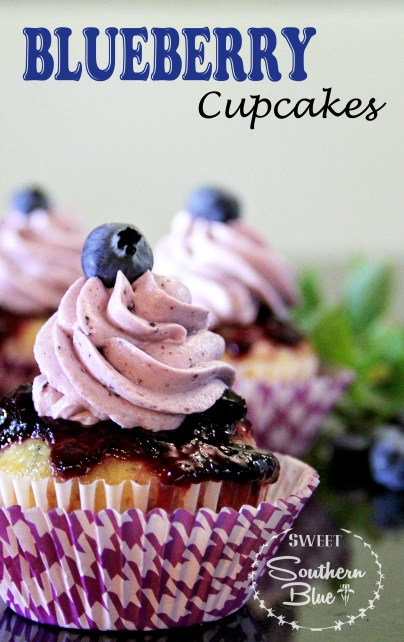 Very Berry blueberry cupcakes