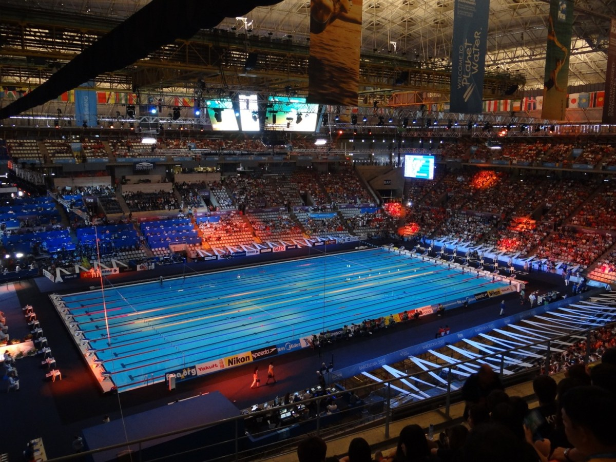 Myrtha admits possible current in barcelona 2013 pool for Swimming pool show barcelona