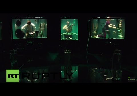 World's first underwater band makes debut at Rotterdam festival