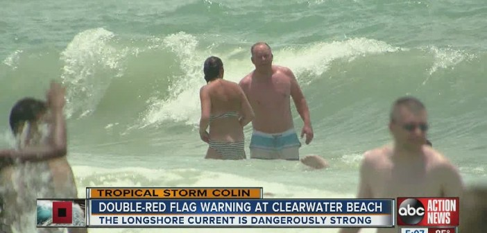 Swimming conditions improve on Clearwater Beach